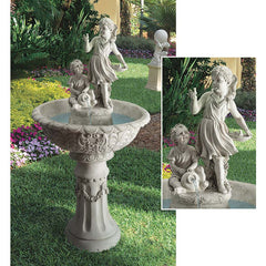 "52"" Grande Classic Baby Birds Cherub Children Home Garden Sculpture Statue Fountain"