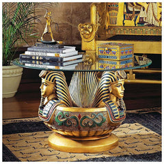 THREE HEADS OF TUTANKHAMEN TABLE