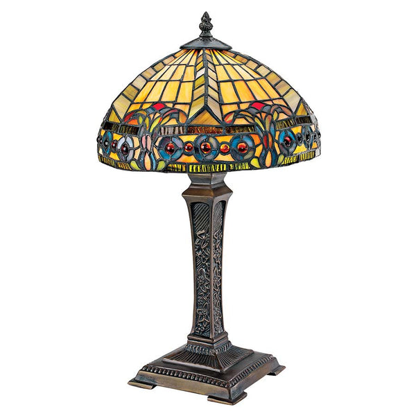 Art Nouveau Carlisle Beaux-arts Stained Glass table Lamp