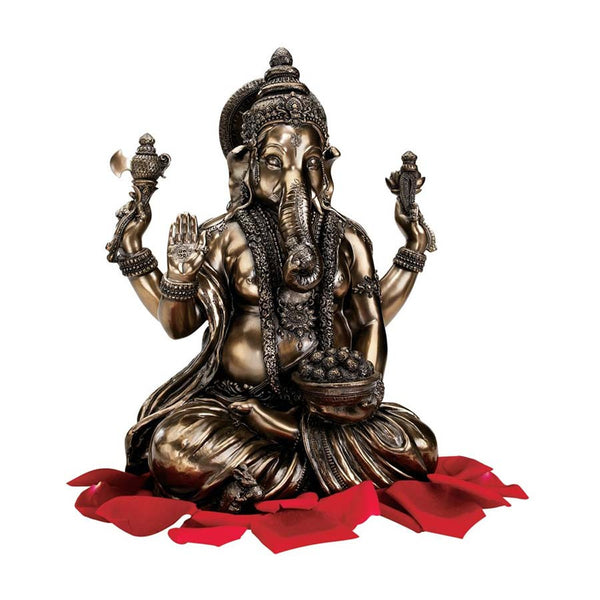 "11"" Asian Lord Ganesh Hindu Sculpture Statue Figurine"