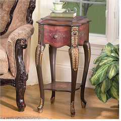 FLORAL BOUQUET SIDE TABLE