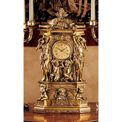 "20"" Luxury Greek Style Water Maidens Château Chambord Clock"