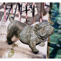"15.5"" English Bulldog Decorative Statue Sculpture [Kitchen]"