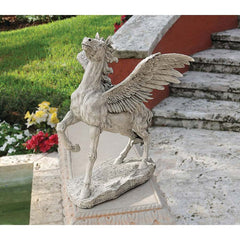 "23"" Exotic Classic Greek Pegasus Winged Flying Horse Sculpture Statue Figurine"