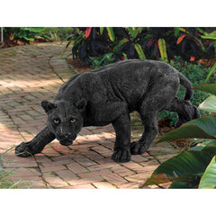 African Wildlife Jungle Beast Predator Black Panther Home Garden Gallery Statue (Xoticbrands)
