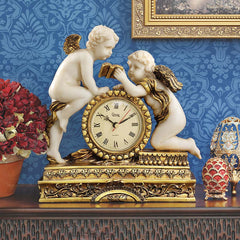 "10.5"" Baby Angel Cherub Mantle Table Clock [Kitchen]"