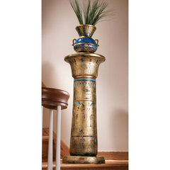 Golden Pedestal of the Egyptian Kings Sculptural Column Inpired By Tombs of the Hepi in Sawijet El Meitni