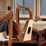 "20.5"" Celtic Rosewood Tara Harp Fully Functional and Beautiful Musical Instru..."
