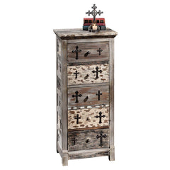 Decorative Gothic Sanctuary Five Drawer Chest