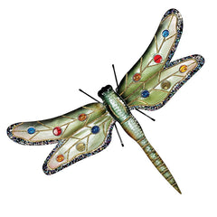 "25""w Large Dragonfly Metal Wall Sculpture"