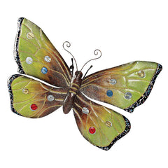 "25""w Large Butterfly Metal Wall Sculpture"