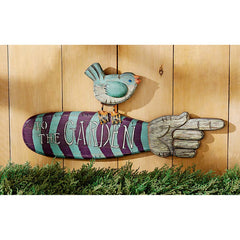 "20½ Wide Whimsical ""To the Garden"" Wall Sign"