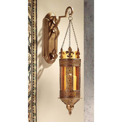 Medieval Castle Hanging Pendant Light, Wall Sconce Candle Holder Lantern