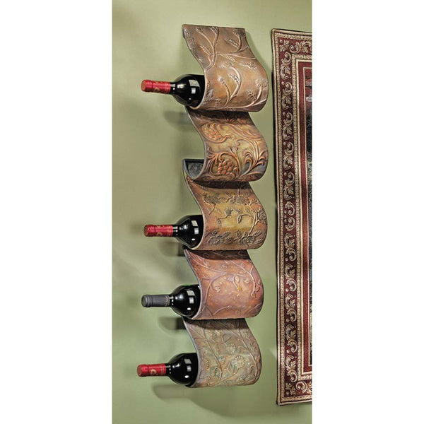 "34"" Classic French Accent Wall Mounted Wine Rack"