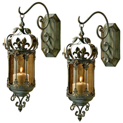 S/2 CROWN ROYALE LANTERNS