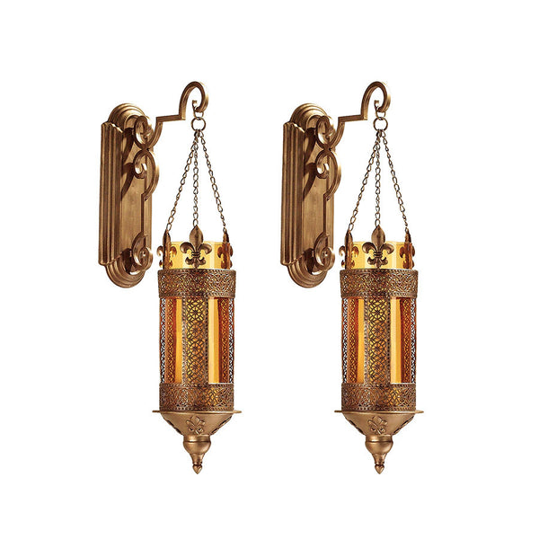 "19"" Medieval Castle Hanging Pendant Light, Wall Sconce Candle Holder Lantern ..."