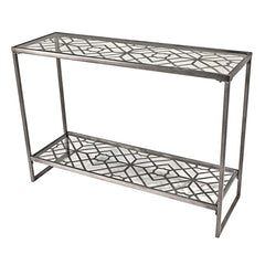 SOHO GEOMETRIC METAL FILIGREE CONSOLE