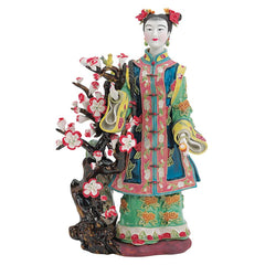 "12"" Asian Collectible Princess Porcelain Statue Sculpture"