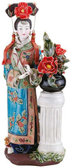 "12"" Ladies on Terrace Porcelain Sculpture"