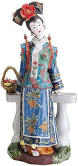 "11"" Ladies on Terrace Porcelain Sculpture"