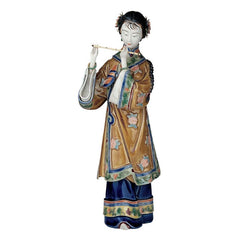 "12"" In Honor of Song Porcelain Flute Player Statue Asian Chinese Collectible ..."