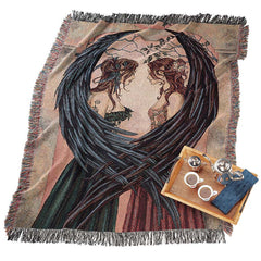 "63"" Angel Cotton Throw Blanket for couch"