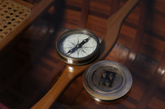 XoticBrands Decor Beetles Compass w leather case Model Display