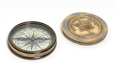 Makers to the Queen Compass w leather case Model Display