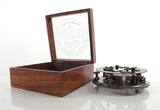 Sundial Compass in wood box (Large) Model Display