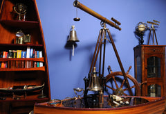 XoticBrands Decor Victorian Marine Telescope Model Display