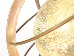 XoticBrands Decor Globe in Brass rings Model Display