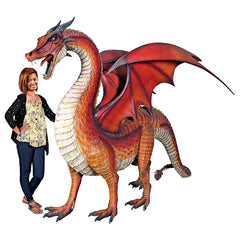 GIANT WELSH RED DRAGON STATUE               FRT-NR
