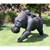 "34.5"" Planet of Apes Gorillas Mother & Child Statue Sculpture Figurine"