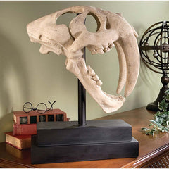 "21"" Tiger Skull Home Museum Gallery Sculpture Luxury Classic Table Trophy Artifact"