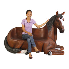 SADDLE UP HORSE BENCH