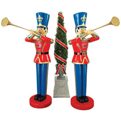 Large Trumpeting Soldier Statue