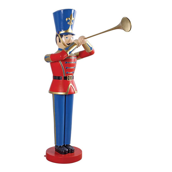MEDIUM TRUMPETING SOLDIER STATUE        NR