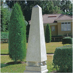 "94"" Large Architecture Home Garden Neoclassical Obelisk Sculpture with Base P..."