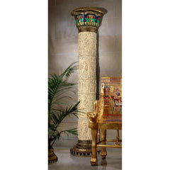 Giant Column Of Luxor Wall Sculpture - Egyptian Wall Decor