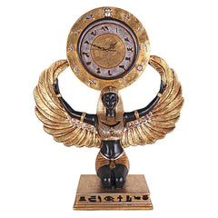 "28"" Egyptian Goddess Isis Grande Clock Home Gallery Statue Sculpture"