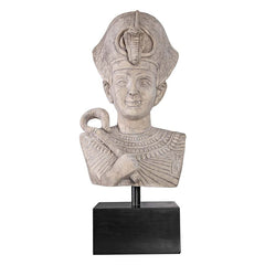 "29"" Ancient Egyptian Collectible Sculpture Pharaoh Ramses the Great Bust Stat..."