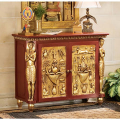 Classic Egyptian Palace of Ramses Egyptian Console Table/ Hallway Table