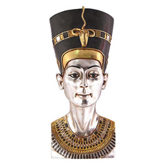 "28"" Ancient Egyptian Collectible Sculpture Queen Nefertiti Wall Statue Figuri..."