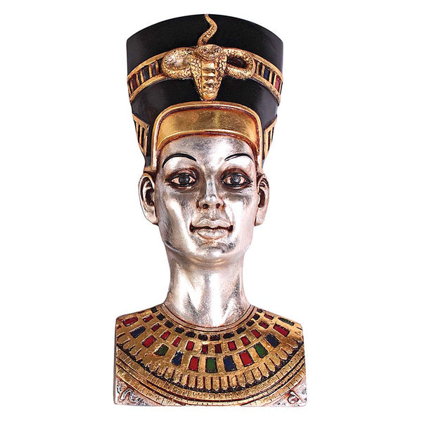 "12"" Classic Egyptian Statue Queen Nefertiti Wall Sculpture Figurine"