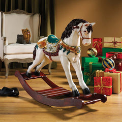 VICTORIAN CAROUSEL ROCKING HORSE STATUE