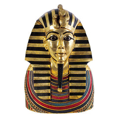 "27"" Ancient Egyptian Sculpture King Tut Tutankhamen Bust Statue Sculpture"