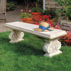 French Architectural Outdoor Garden Bench