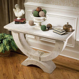 "32"" Classic French Moderno Arch of Stone Luxury Table Console"