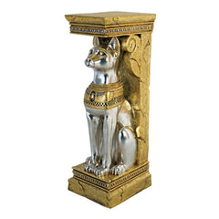 "37.5"" Classic Egyptian Collectible Cat Feline Bastet Pedestal Statue Sculptur..."