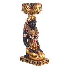 "29"" Classic Ancient Egyptian Goddess Home Decor Kneeling Urn Statue Sculpture..."